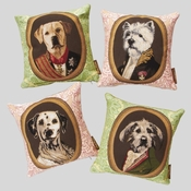 Dog Pillows Green And Pink Colors - Closeout (Buy 4 for $99!!)