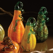 Art Glass Set/3 Speckled Gourds