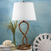 Twisted Rope Lamp W/Shade