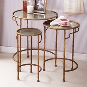 Golden Bamboo S/3 Nesting Side Tables