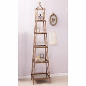 Golden Bamboo 5-Shelf Stackable Tower