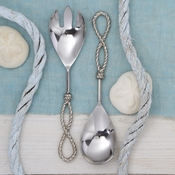 Set/2 Rope Handle Serving Utensils