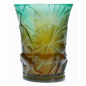 Daum Crystal Monkeys Vase - Guaranteed Lowest Price