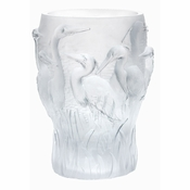 Daum Crystal White Heron Vase H. 12 2/3 - 10% BACK IN REWARD $$