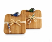 Fish Bamboo Board And Fork Set (Sold Each)