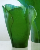 Daum Crystal Ginko Medium Vase - Guaranteed Lowest Price