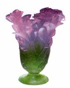 Daum Crystal Rose Vase - Guaranteed Lowest Price