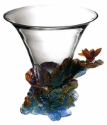 Daum Crystal Butterfly Vase - 10% OF YOUR PURCHASE BACK