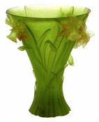 Daum Crystal Jonqiuilles Large Vase - 10% OF YOUR PURCHASE BACK