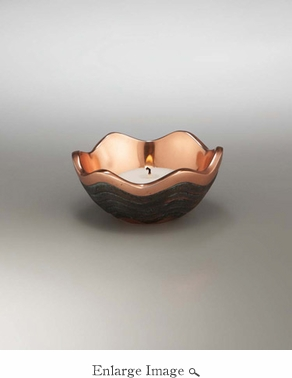 Nambe Copper Canyon Votive