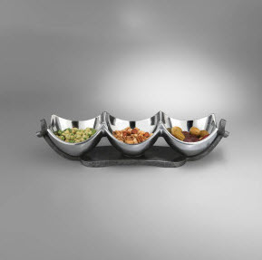 Nambe Anvil Condiment Trio