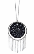 Lalique Cactus Long Necklace - Black