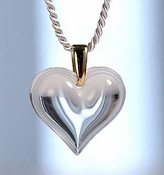 Lalique Heart Pendant Large Clear GP