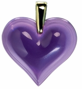 Lalique Heart Pendant Large Purple GP