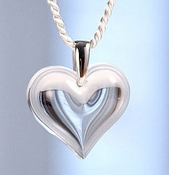 Lalique Heart Pendant Large Clear SS