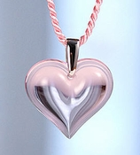 Lalique Heart Pendant Large Pink SS