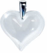 Lalique Heart Pendant Large Opalescent SS