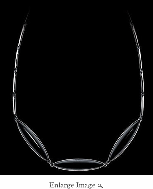Lalique Eclat Noir 3 Element Necklace