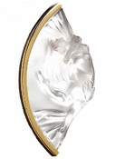 Lalique Brooch Gold Plated Clear