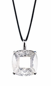 Lalique Clear & Black Crystal - Sterling Silver