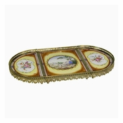 Tray, Porcelain/Brass, Le Grange Collection