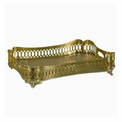Tray, Rectangular, Antique Brass Finish
