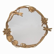 Vanity Mirror; Brass and Glass, Art Nouveau Style