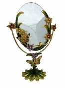 Well Jeweled Butterfly Vanity Mirror - CLOSEOUT
