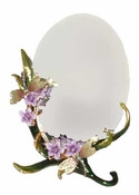Well Jeweled Dragonfly Mirror with Purple Flowers