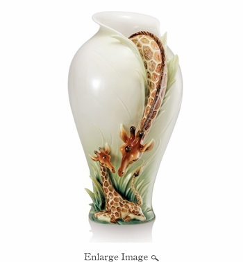 Franz Endless Beauty Giraffe Porcelain Vase