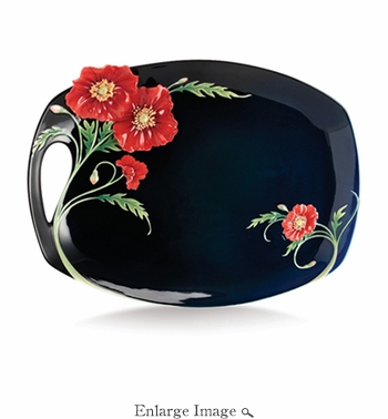 Franz The Serenity poppy flower large tray