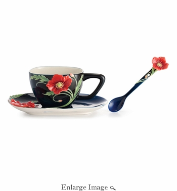 Franz The Serenity poppy flower spoon