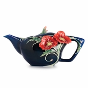 Franz The Serenity poppy flower teapot