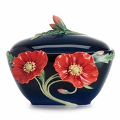 Franz The Serenity poppy flower sugar jar