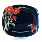 Franz The Serenity poppy flower dessert plate