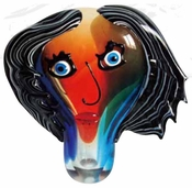 Viz Art Glass Pikasso Face Sculptures