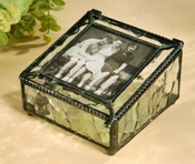 J Devlin Art Glass Photo Box  Oceania