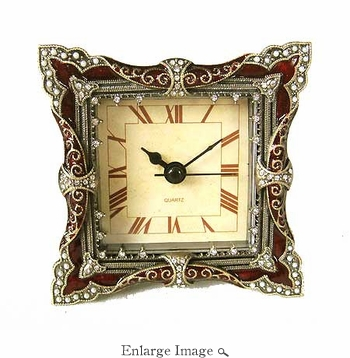 Jeweled & Enameled Paris Clock - CLOSEOUT