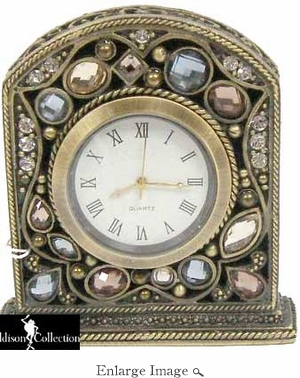 Well Jeweled Multi-colored Stones Clock