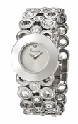 Freelook Watch SS blank dial, circular bracelet w crystals