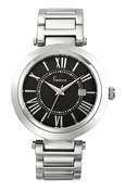 Freelook Watch CORTINA-Stainless steel black dial-roman numerals