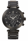 Freelook Watch CORTINA Chrono-Black Ionic Plated