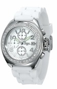 Freelook Watch Aquamarina-SS case white dial white silicon band - CLOSEOUT FINAL SALE