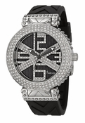 Freelook Watch Stardust X-Black/Silver-Swarovski xtals