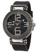 Freelook Watch Stardust X-Black/Black-Swarovski xtals