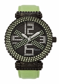 Freelook Watch Stardust X-Green/Green Swarovski xtals