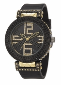 Freelook Watch Stardust X-Black/YG-Swarovski xtals