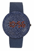 Freelook Watch Digital Blue/Blue Swarovski