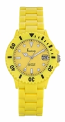 Freelook Watch Seadiver Yellow Band, Yellow Dial