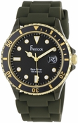 Freelook Watch - Sea Diver Jelly Military Green Silicone Band with Matching Dial Watch